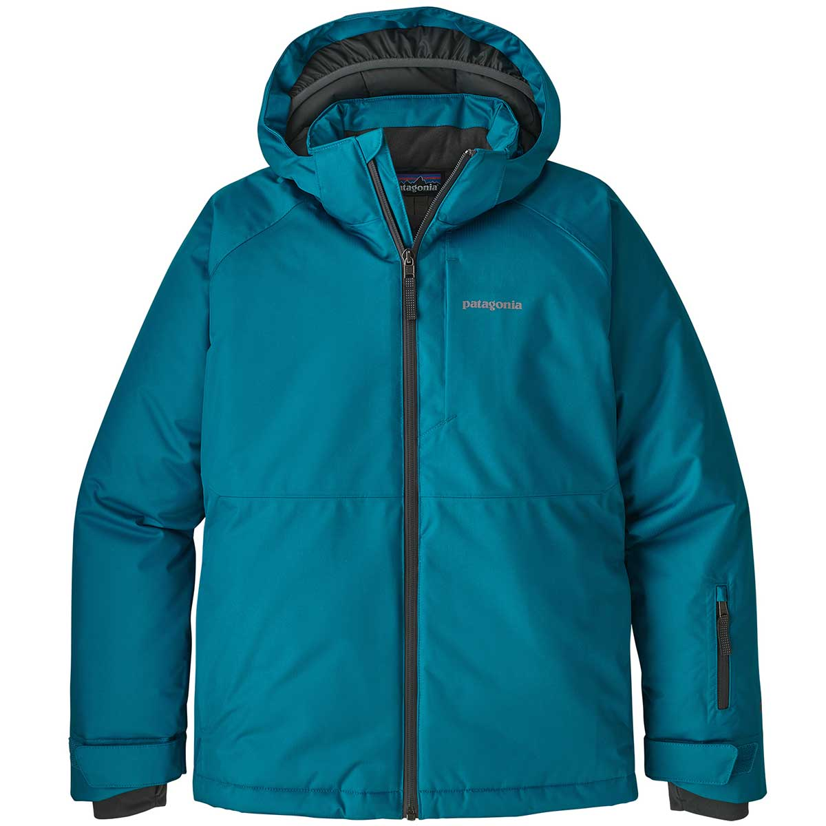 Patagonia boy' Snowshot Jacket in Balkan Blue front view