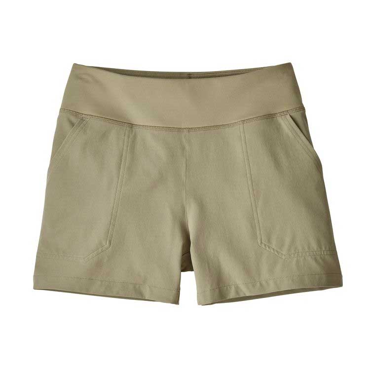 Women's Patagonia Happy Hike shorts in Shale, or off white