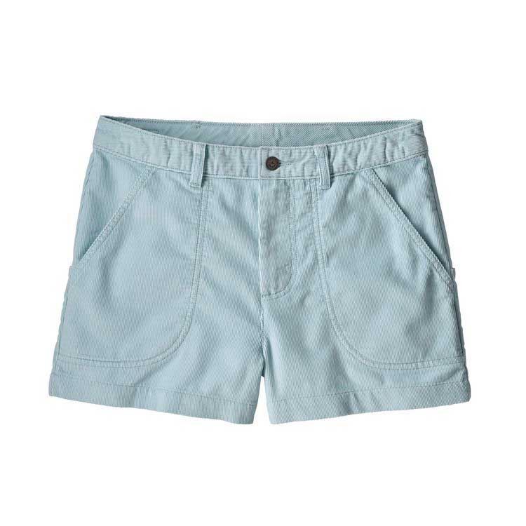 Women's Patagonia corduroy Cord Stand Up shorts in Atoll Blue or light blue