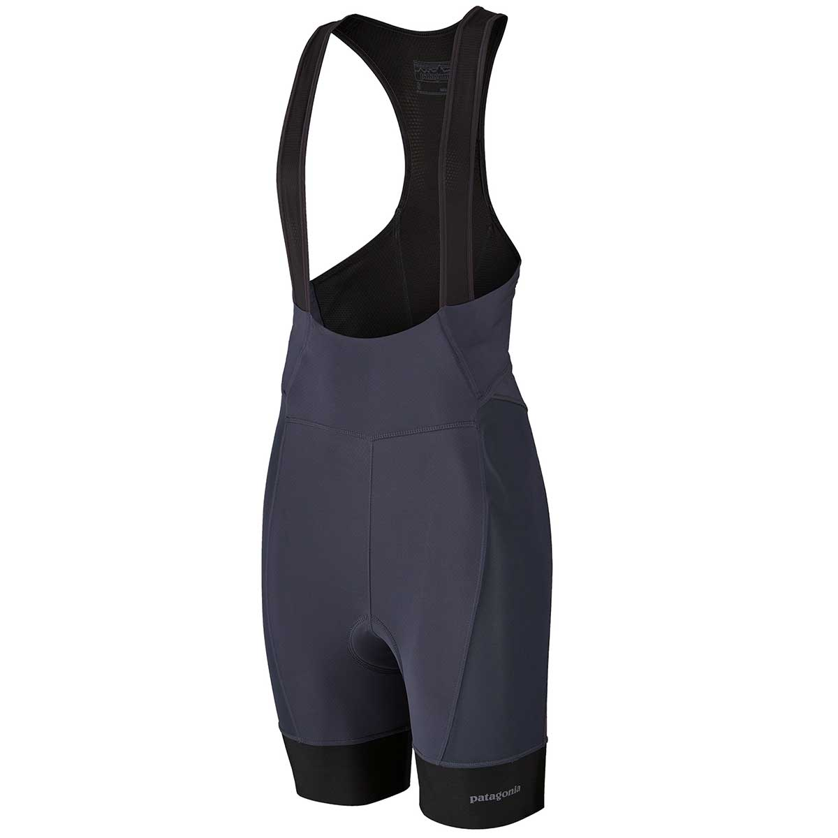 Patagonia women's Endless Ride Liner Bibs in Smolder Blue front view