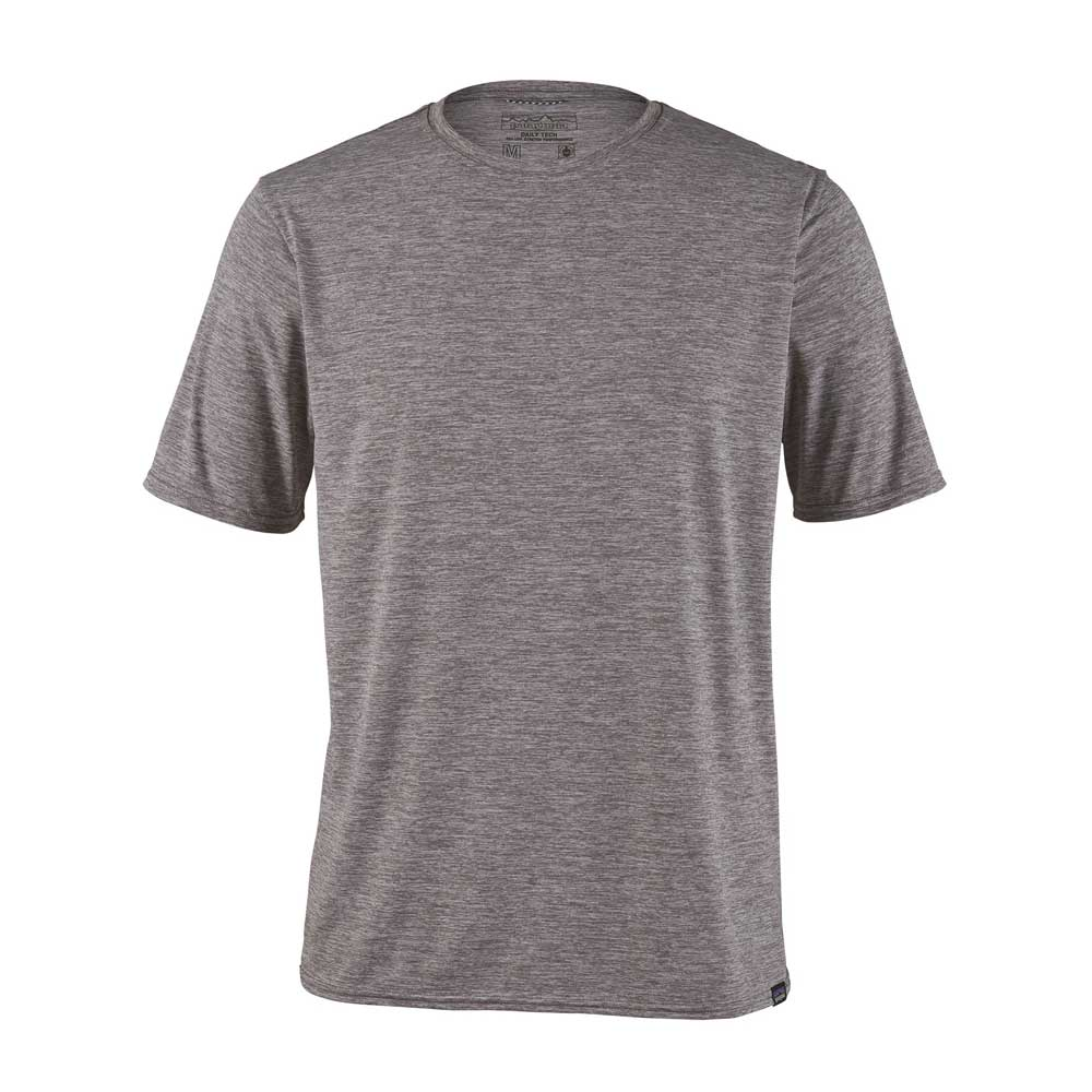Patagonia men's Capilene Cool Daily short-sleeve shirt, in Feather Grey