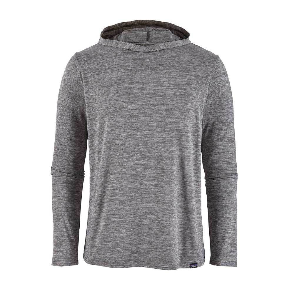 Patagonia men's Capilene Cool Daily long-sleeve hoody, in Feather Grey