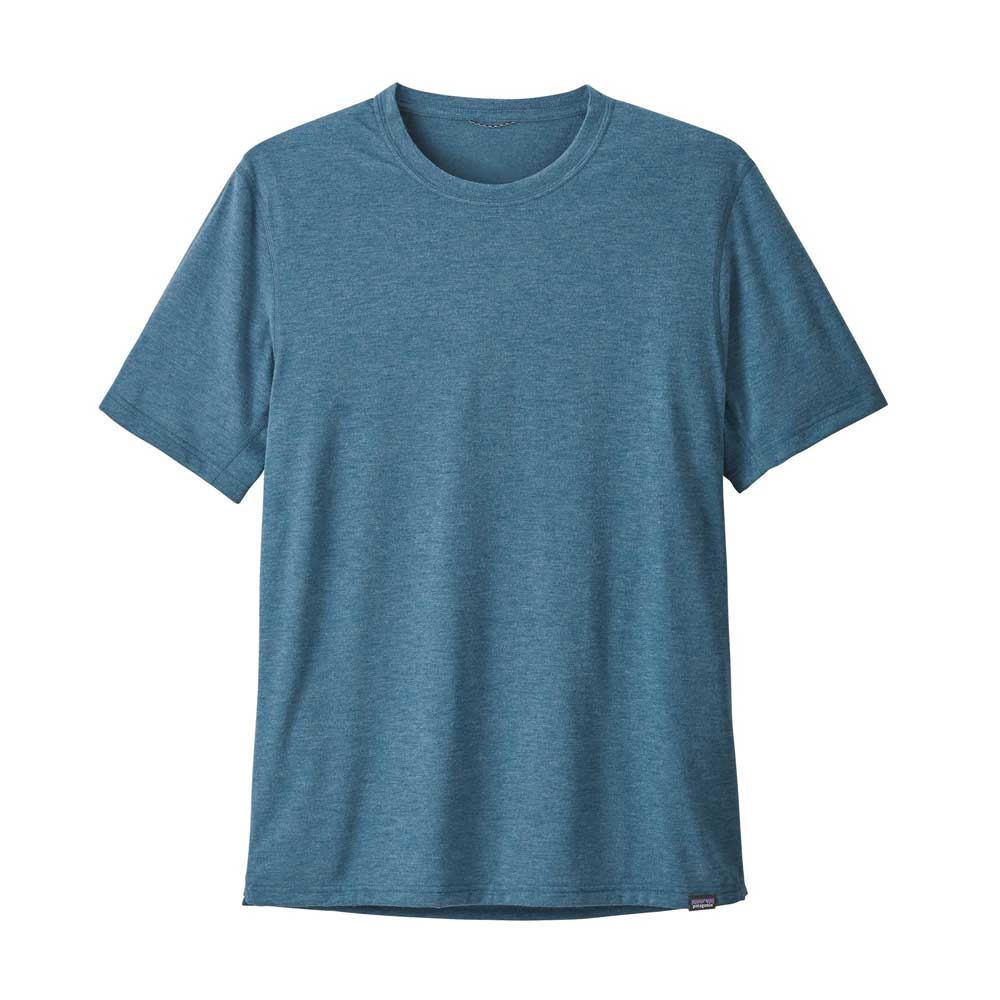 Patagonia men's Capilene Cool Daily Trail short-sleeve T-shirt, in Big Sur Blue