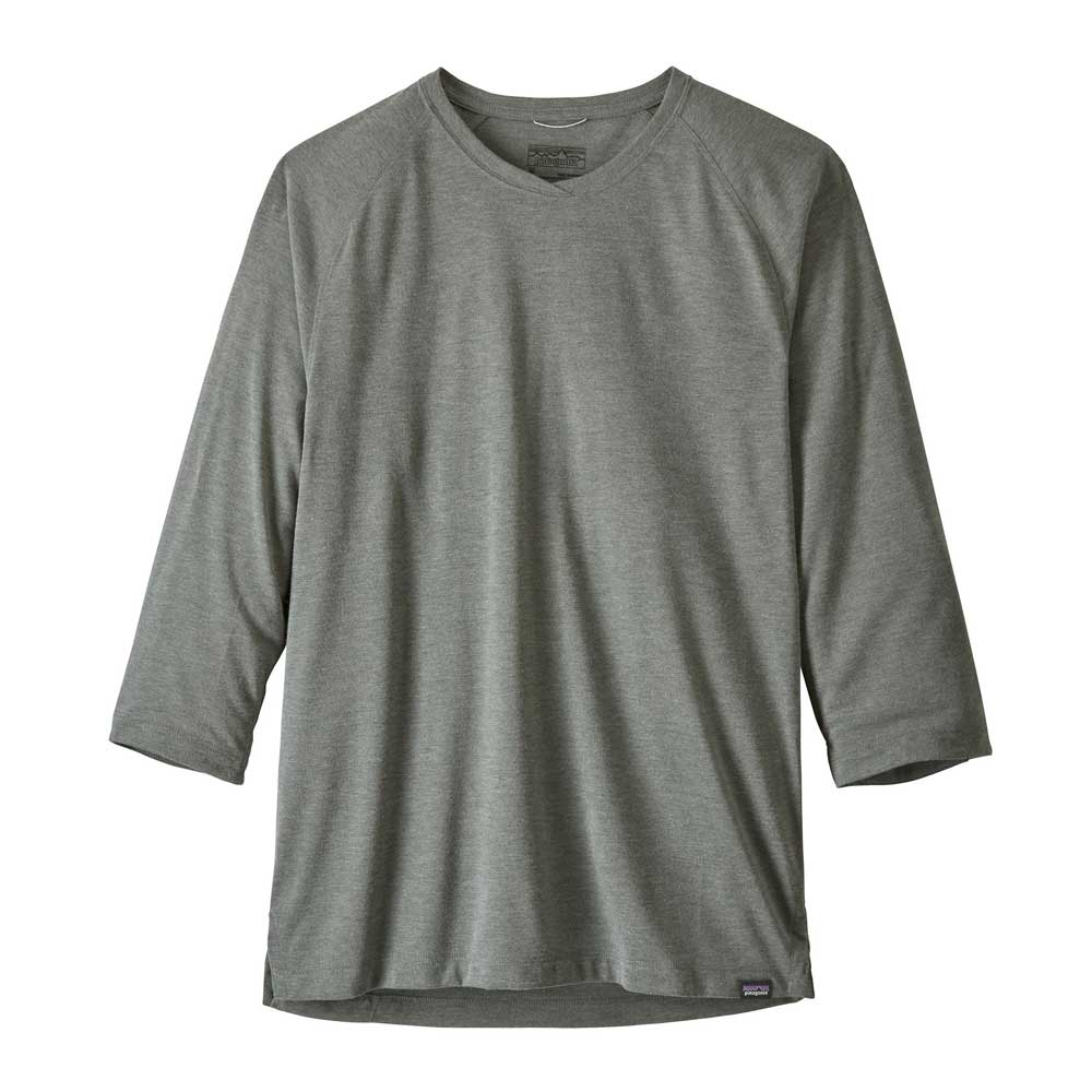 Patagonia men's Nine Trail bike jersey in Cave Grey
