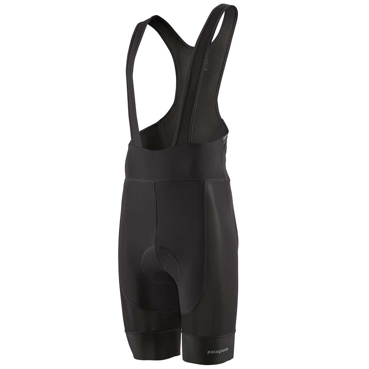 Patagonia men's Endless Ride Liner Bibs in Black front view