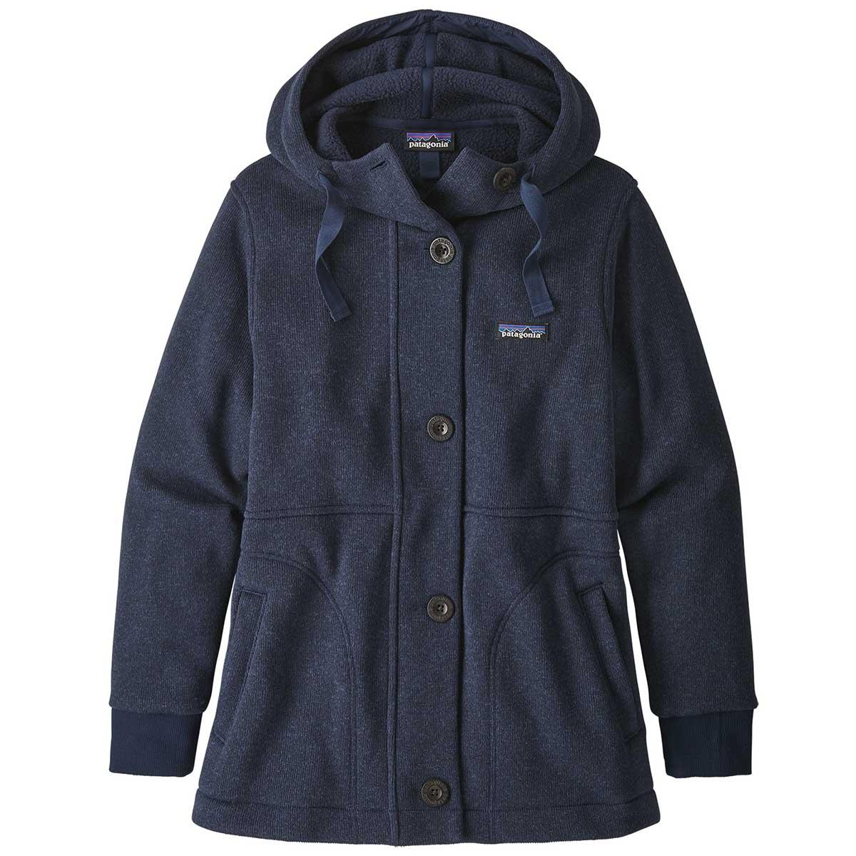 Patagonia women's Better Sweater Coat in Neo Navy front view