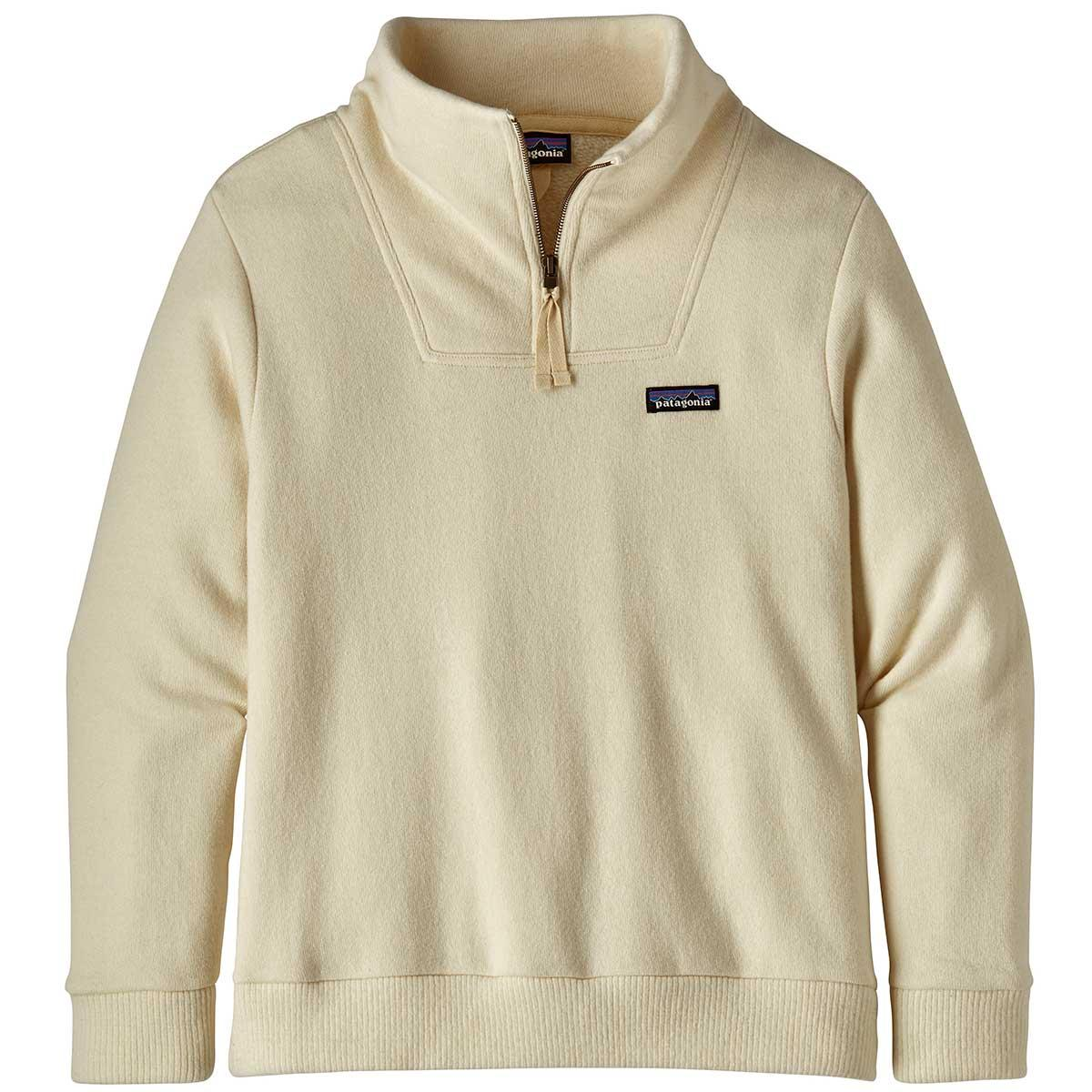 Patagonia women's Woolie Fleece Pullover in Oyster White front view