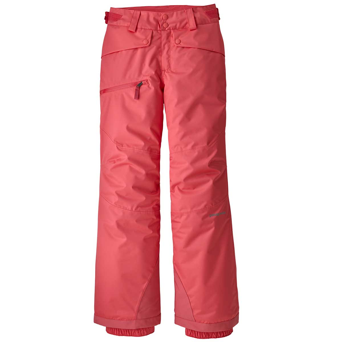 Patagonia girl's Snowbelle Pant in Range Pink front view
