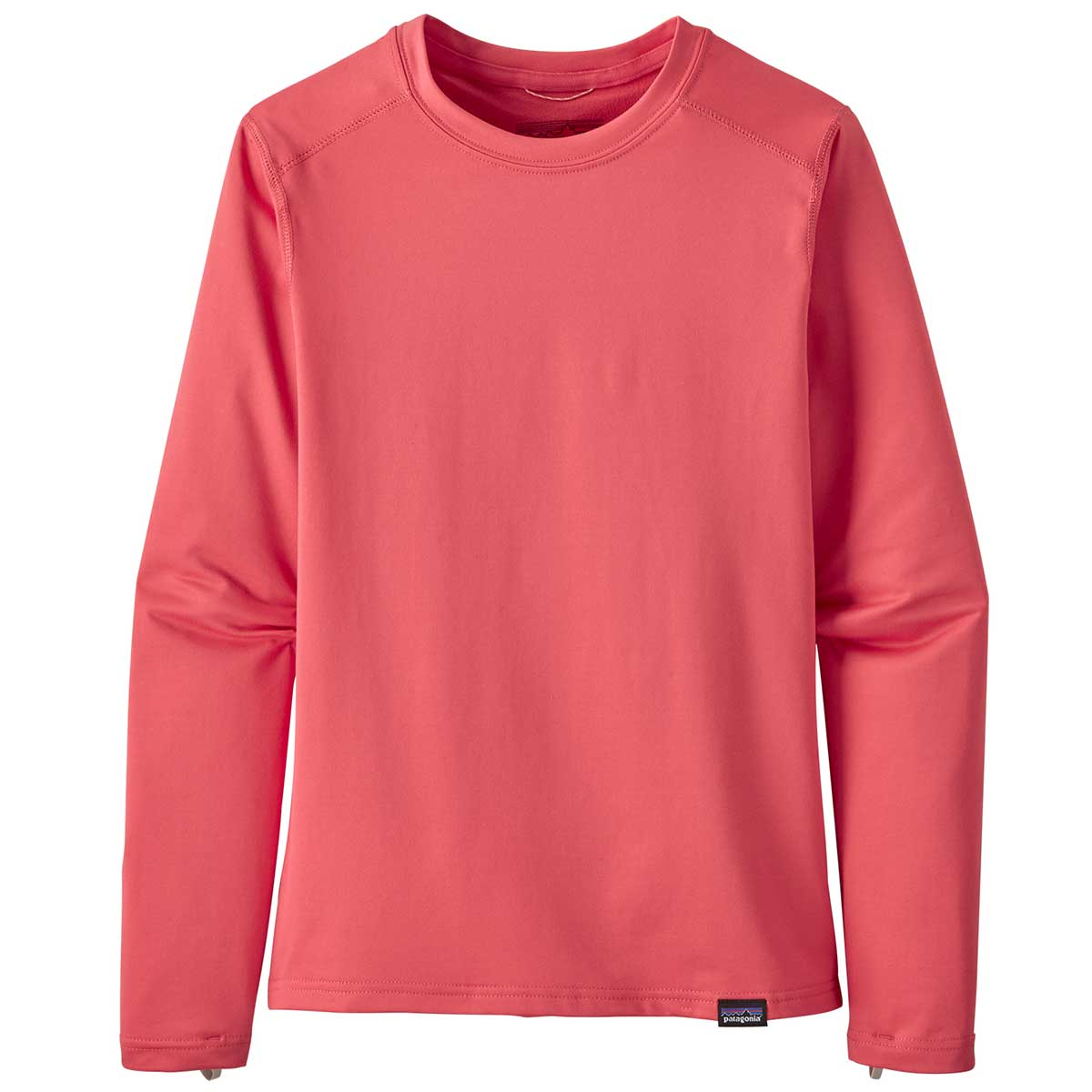 Patagonia kid's Capilene Crew in Range Pink front view