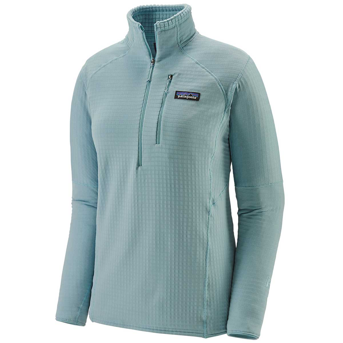 Patagonia women's R1 Pullover in Big Sky Blue front view