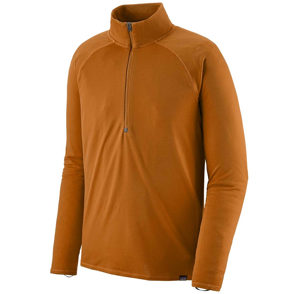 Patagonia men's Capilene Midweight Zip-Neck in Hammonds Gold front view