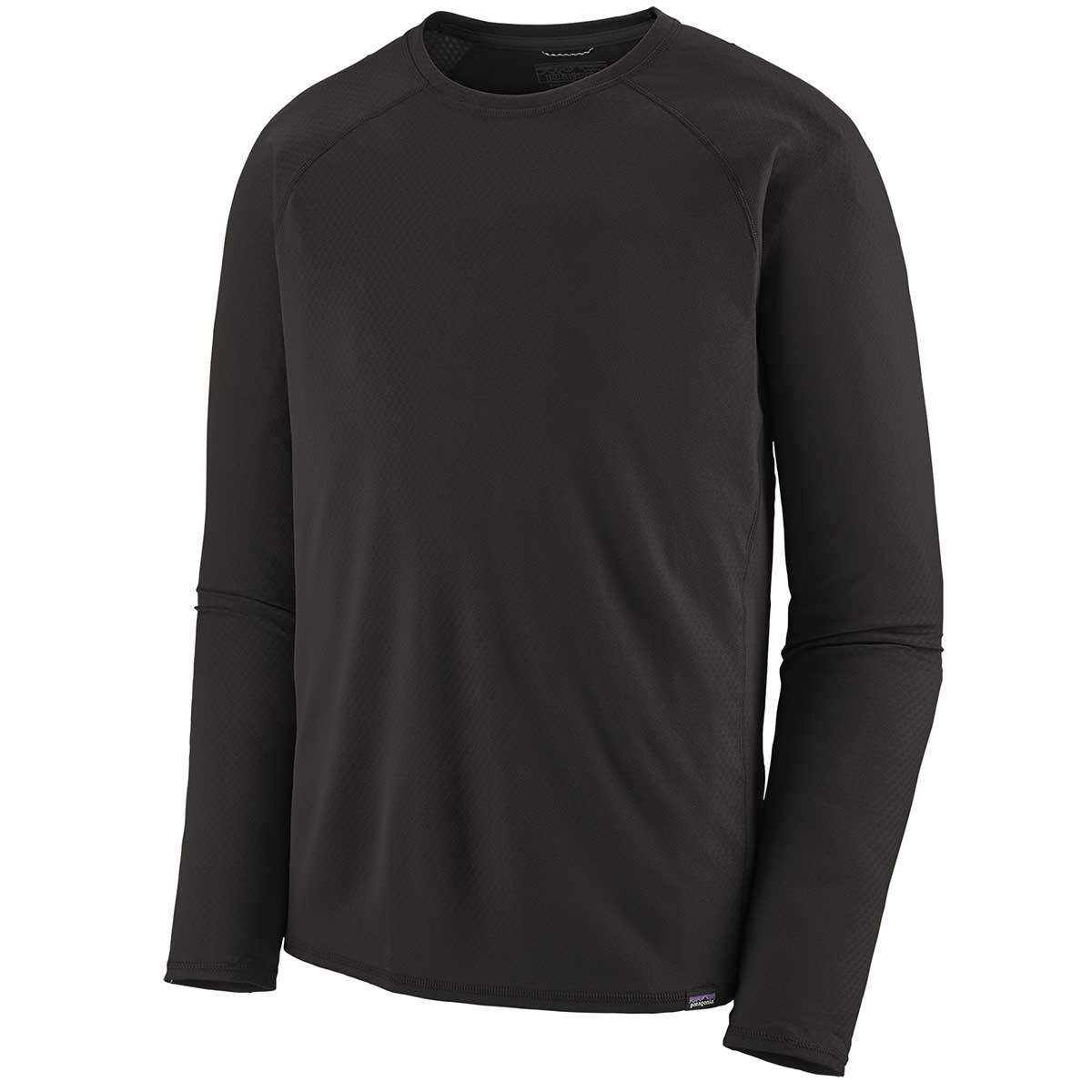Patagonia men's Capilene Midweight Crew in Black front view