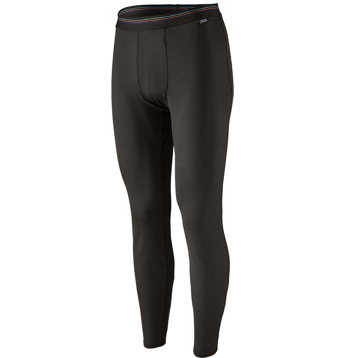 Patagonia men's Capilene Midweight Bottoms in Black front view