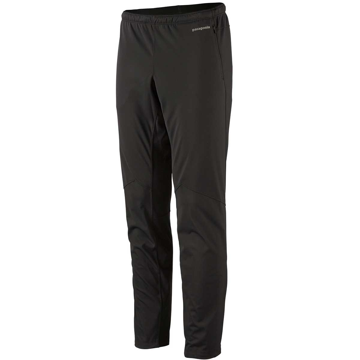 Patagonia men's Wind Shield Pant in Black front view