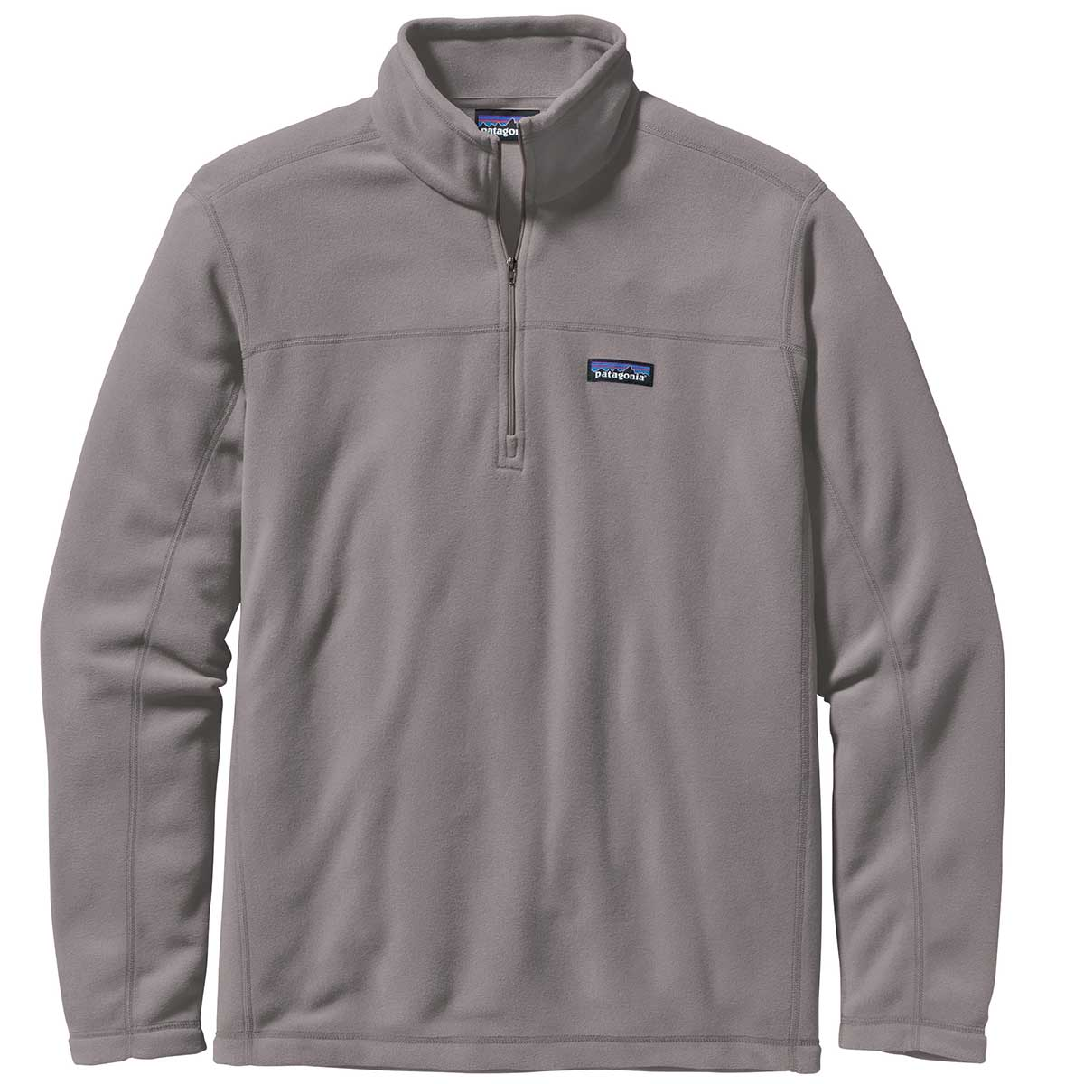 Patagonia men's Micro D Pullover in Feather Grey front view
