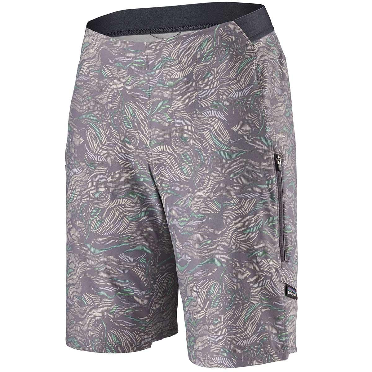 Patagonia women's Tyrollean Bike Short in Mississippi Delta and Smokey Violet front view