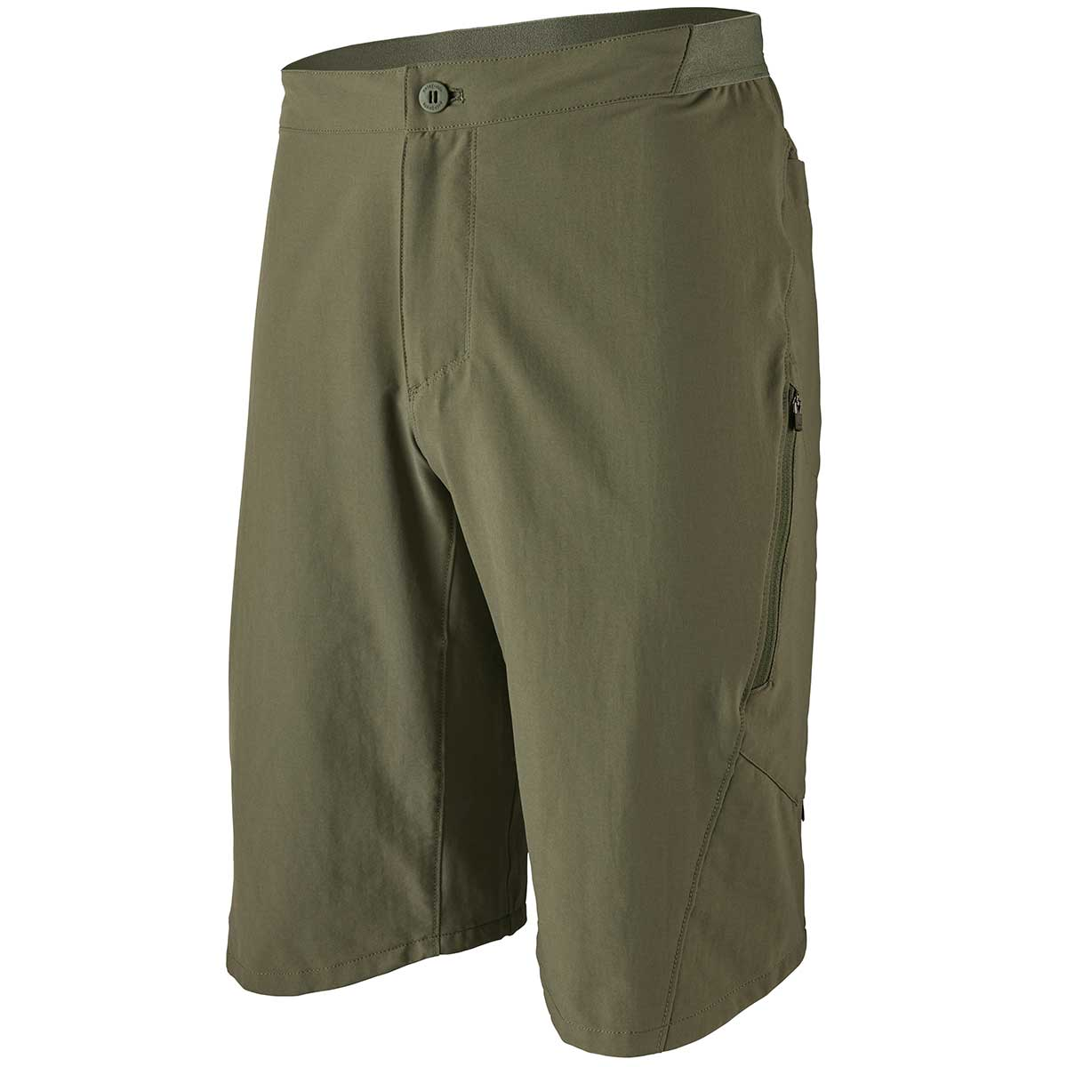 Patagonia men's Landfarer Bike Short in Industrial Green front view