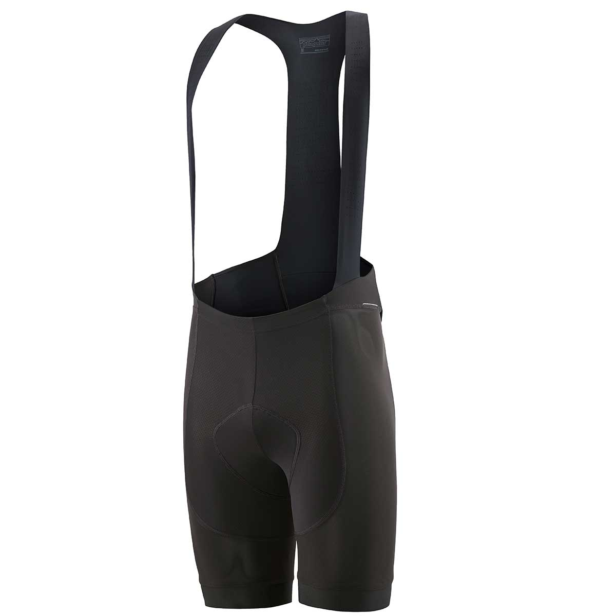 Patagonia men's Dirt Roamer Liner Bib Short in Black front view