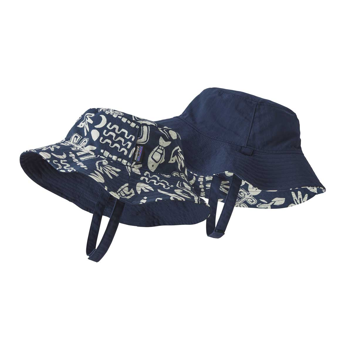 Patagonia kids' Sun Bucket Hat in Backyard Explorer Stone Blue