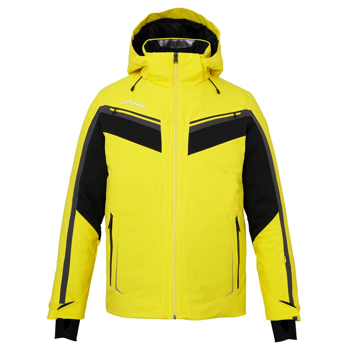 Phenix men's Trueno Jacket in Yellow front view