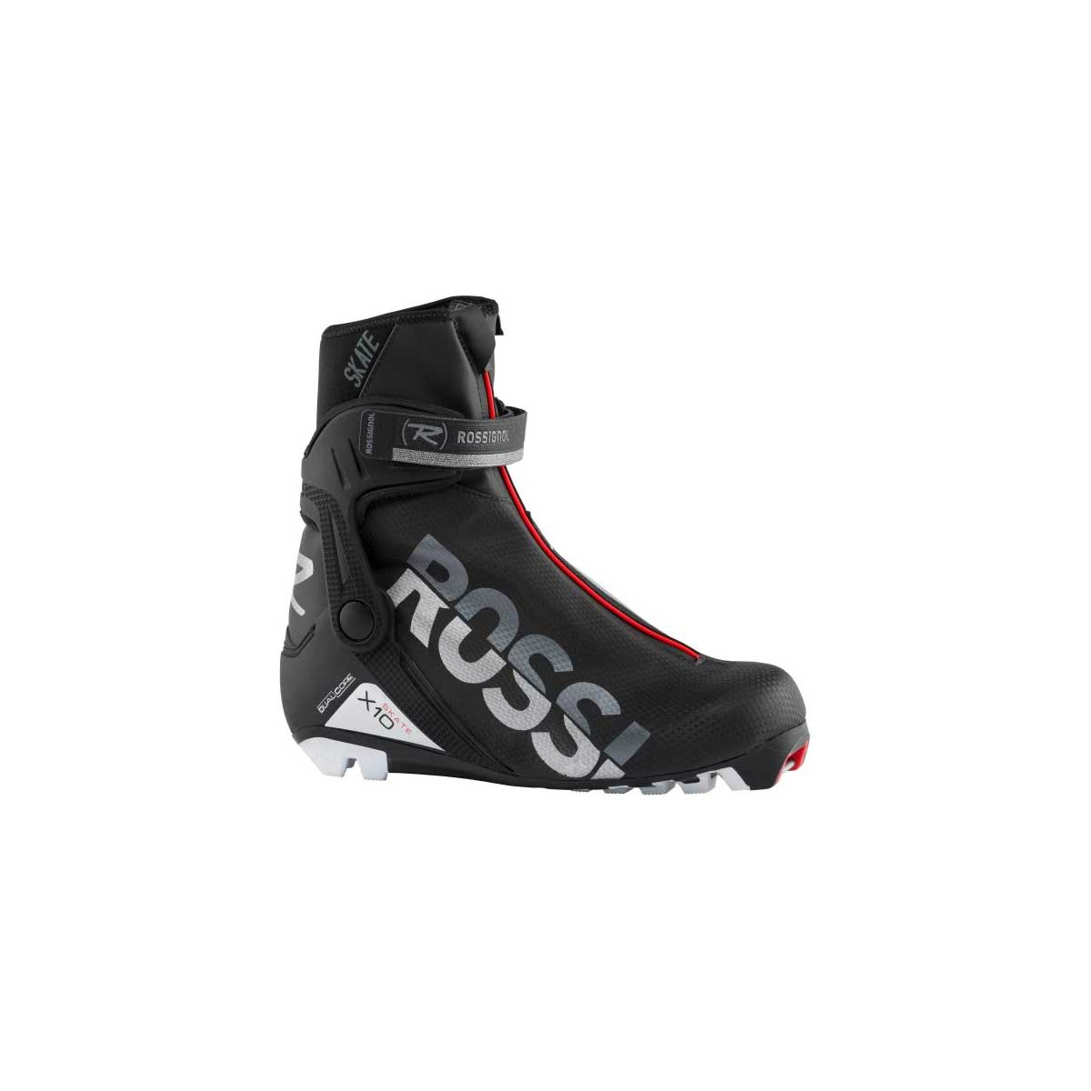 Rossignol Women's X-10 Skate Boot in Black and Red