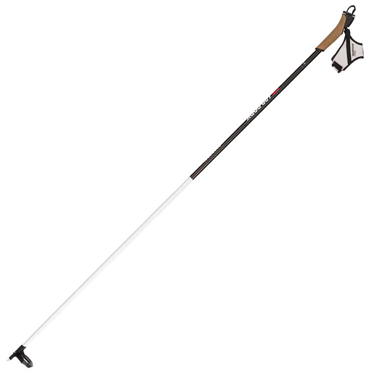 Rossignol FT-600 Ski Pole in Black and White full view