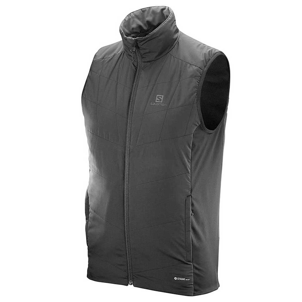 Salomon Men's Drifter Mid Vest in Black and Forge Iron
