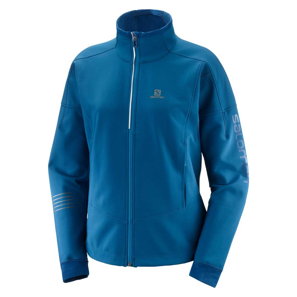 Salomon Women's Lightning Warm Softshell Jacket in Poseidon
