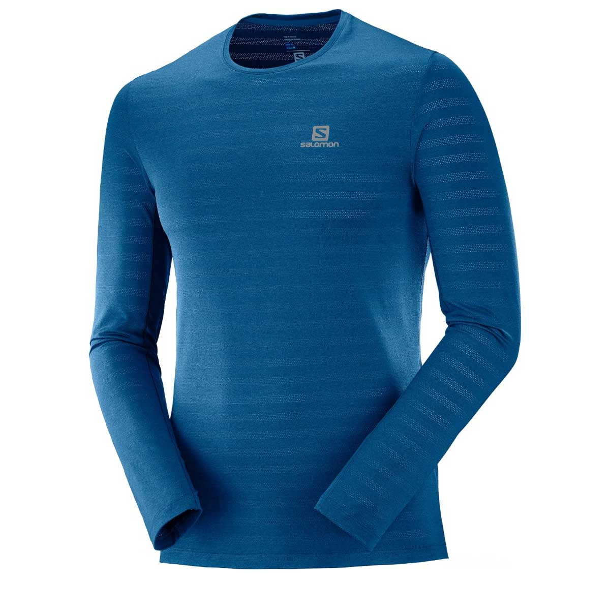 Salomon Men's XA Long Sleeve Tee in Poseidon