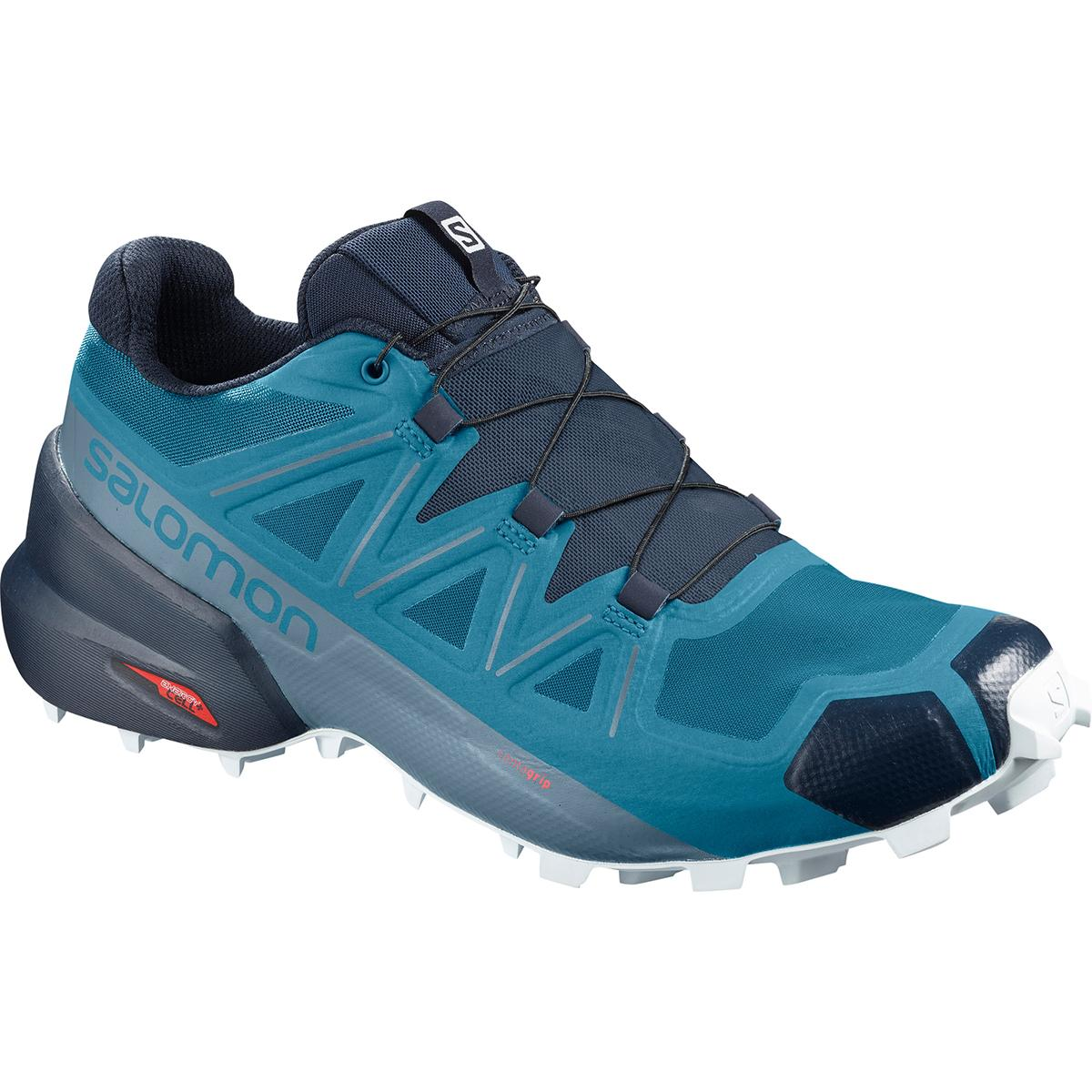 Salomon men's Speedcross 5 Trail Run Shoe in Fjord Blue and Navy Blazer main view
