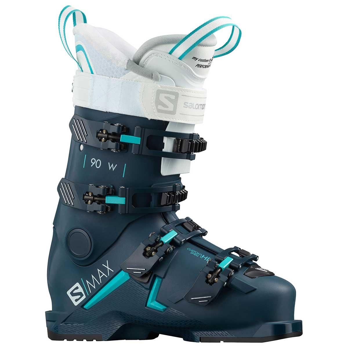 Salomon S/Max 90 ski boot in petrol blue