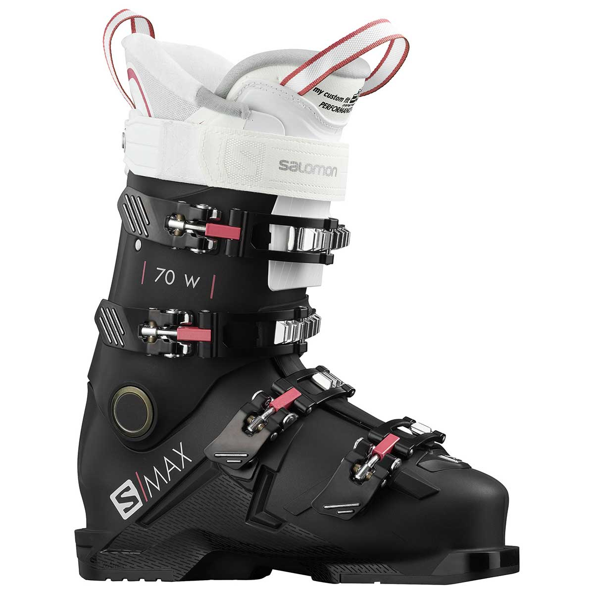 Salomon S/Max 70 ski boot in black and white