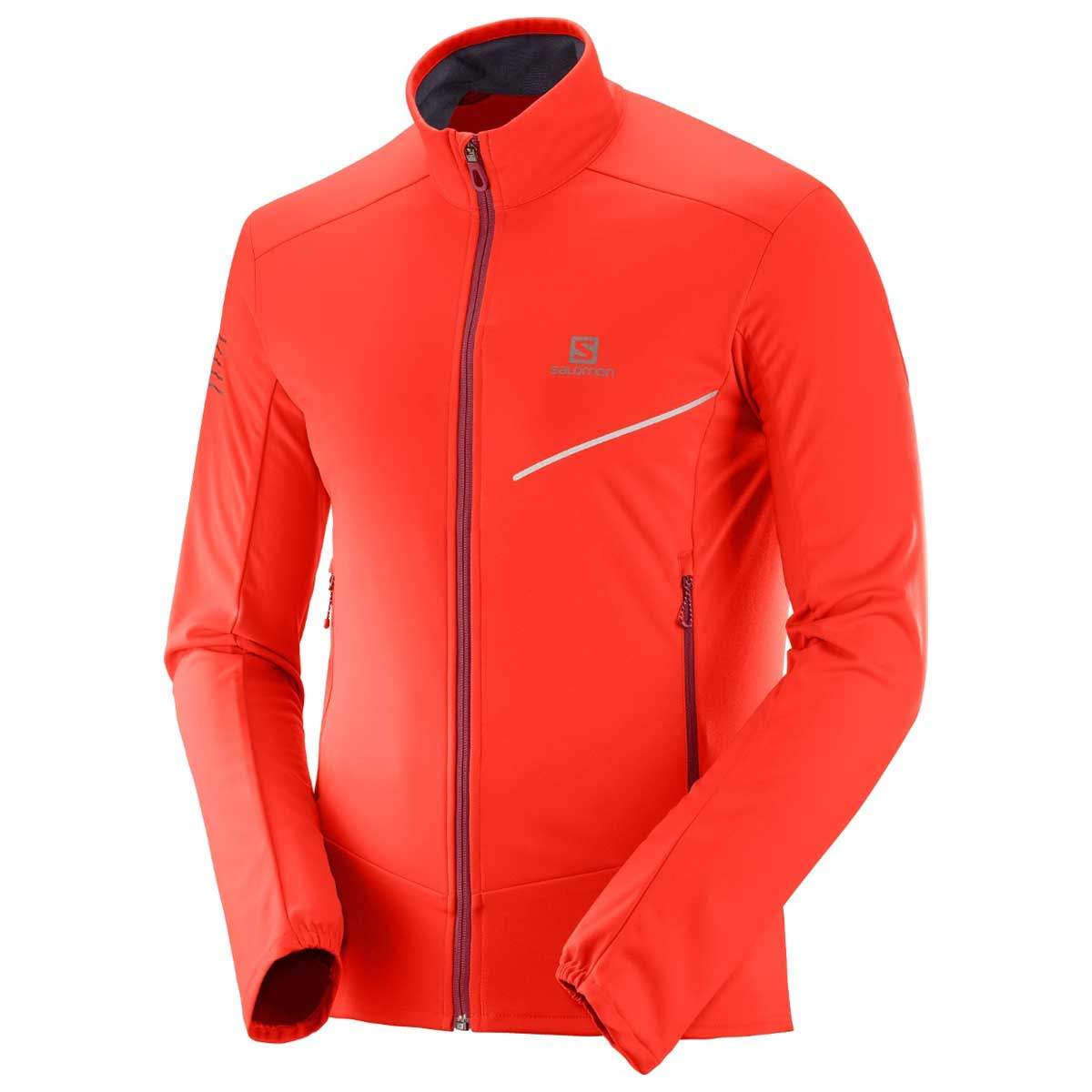 Salomon Men's RS Softshell Jacket in Fiery Red and Biking Red
