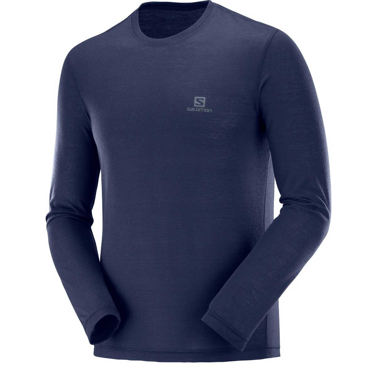 Salomon Men's Explore Long Sleeve Tee in Night Sky