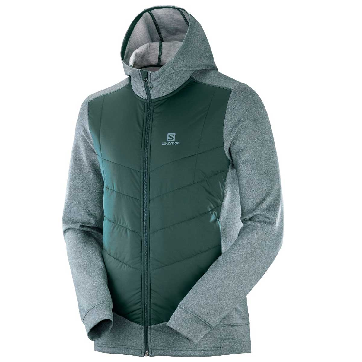 Salomon Men's Pulse Hybrid Hoodie in Green Gables