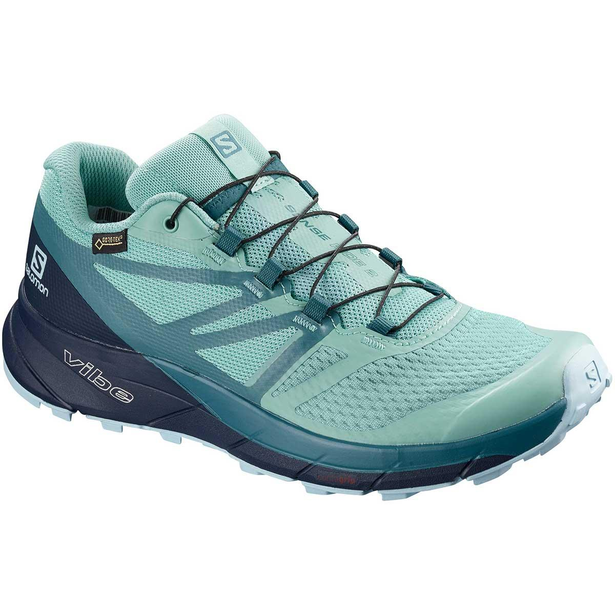 Salomon Sense Ride 2 GTX Invisible Fit W in Nile Blue and Navy Blazer and Mallard Blue