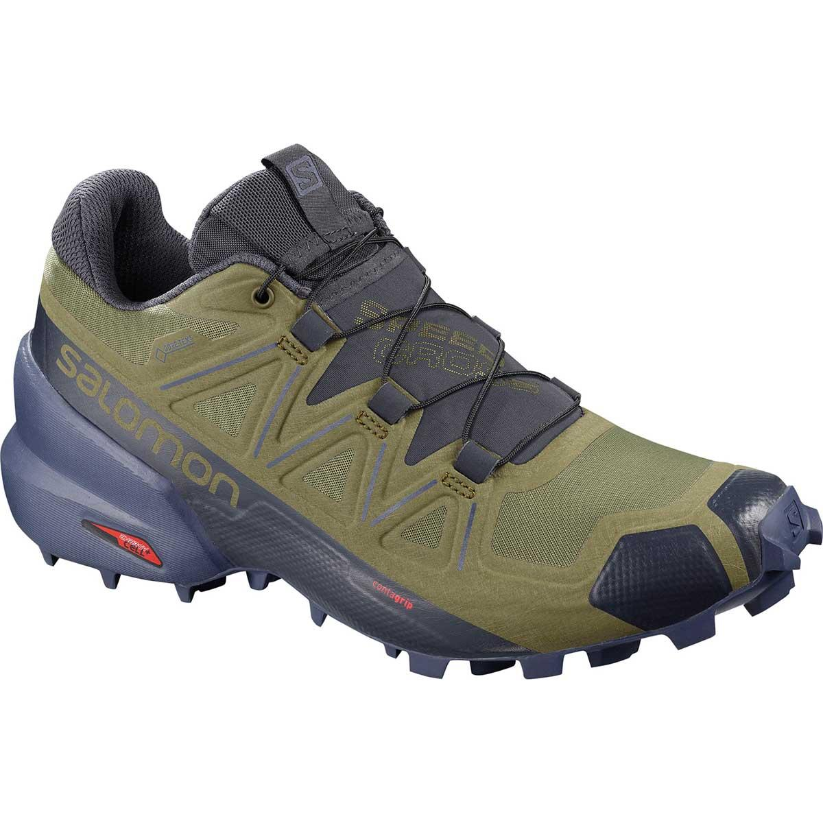 Salomon Speedcross 5 GTX W in Burnt Olive and Crown Blue