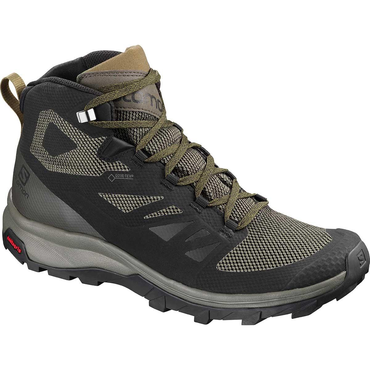 Salomon Outline Mid GTX in Black and Beluga