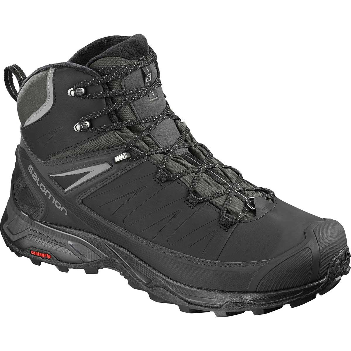 Salomon X Ultra Mid Winter CS WP in Black and Phantom