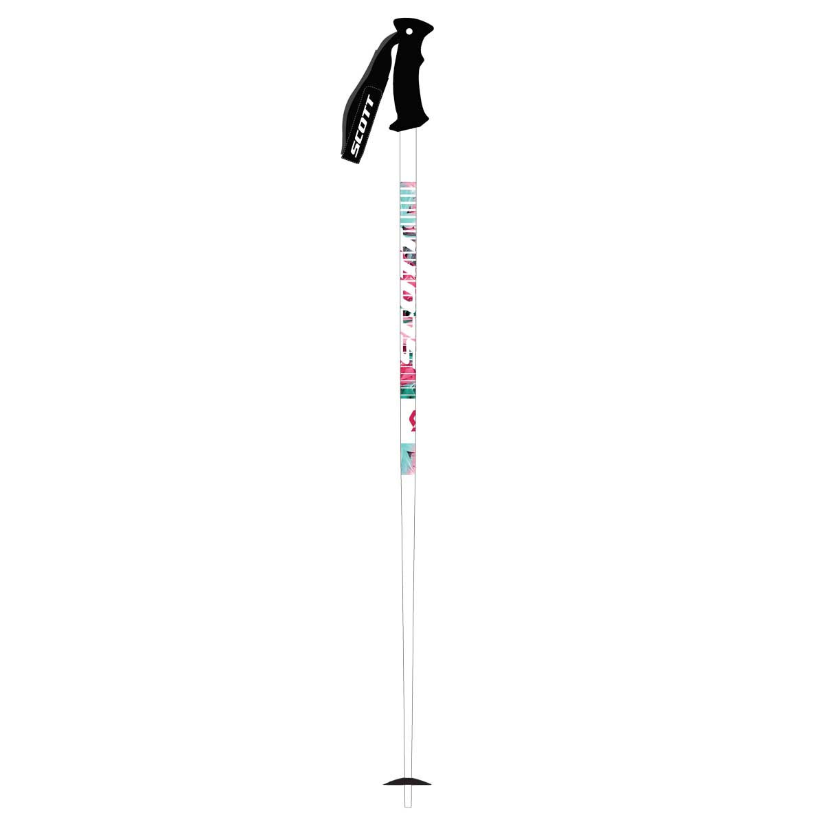scott kids hero jr ski pole in white and pink