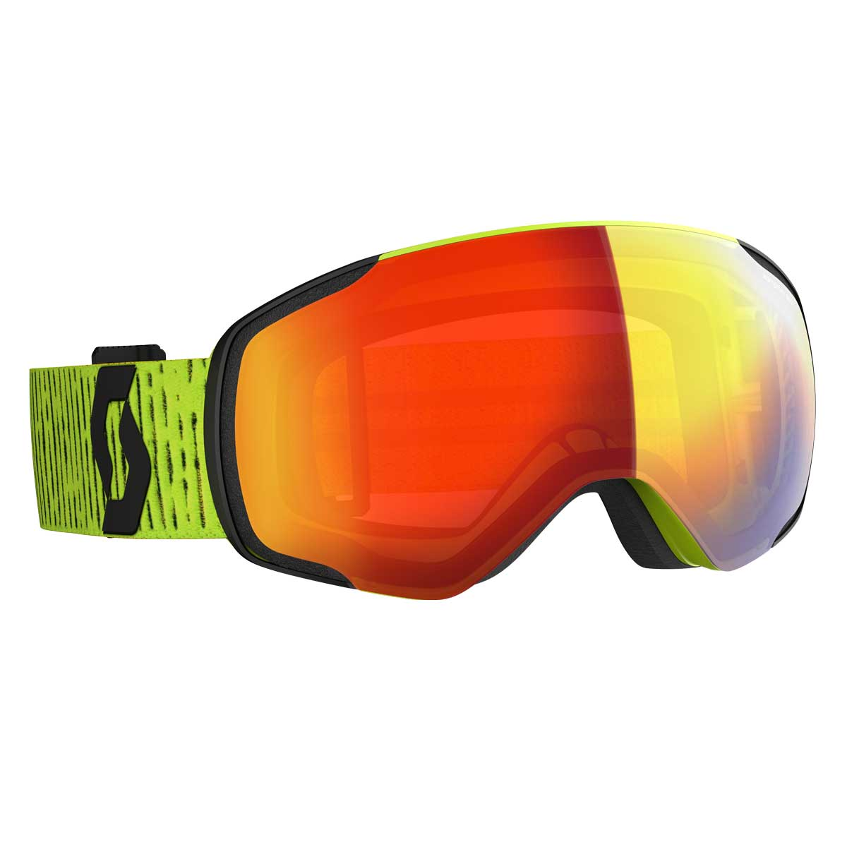 scott vapor goggle in Yellow with Enancer Red Chrome