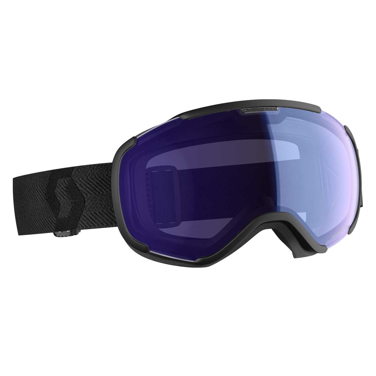 scott faze 2 goggle in Black with Illuminator Blue Chrome