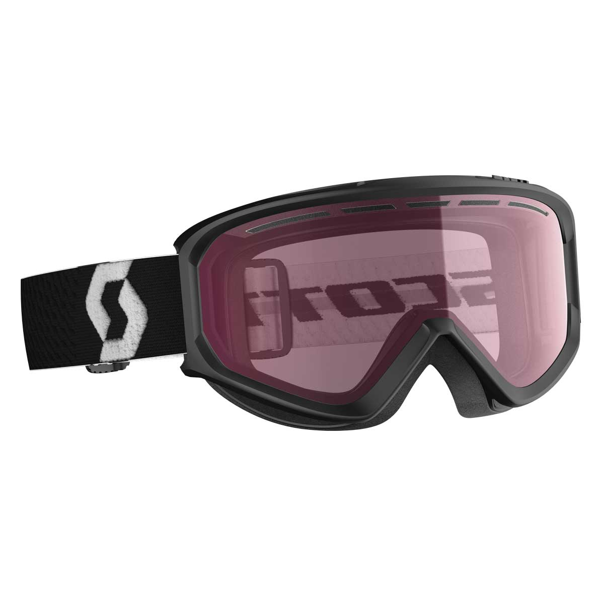 scott fact goggle in black with illuminator