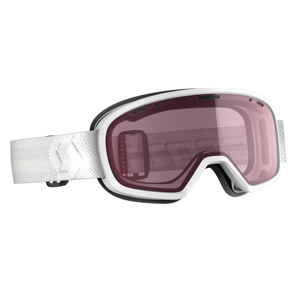 scott muse goggle in white with illuminator