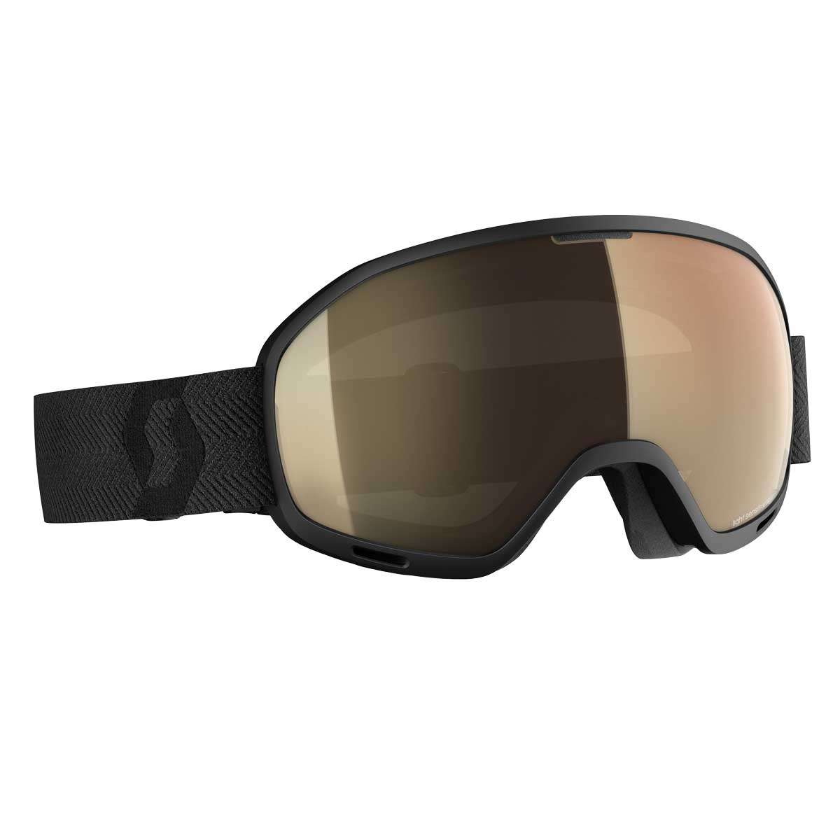 scott ulimited otg 2 goggle in black with bronze chrome