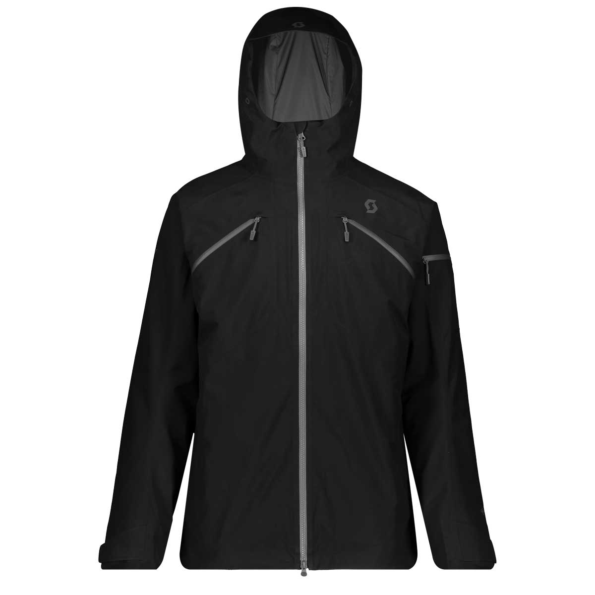 Scott men's Ultimate GTX 3-in-1 jacket in Black and Dark Grey Melange