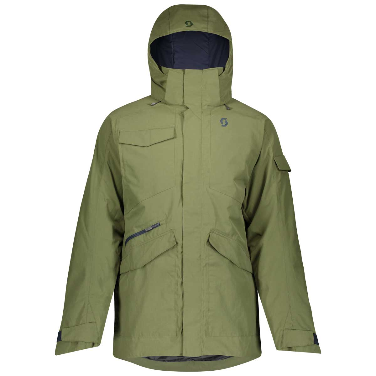 scott mens ultimate dryo jacket in green moss