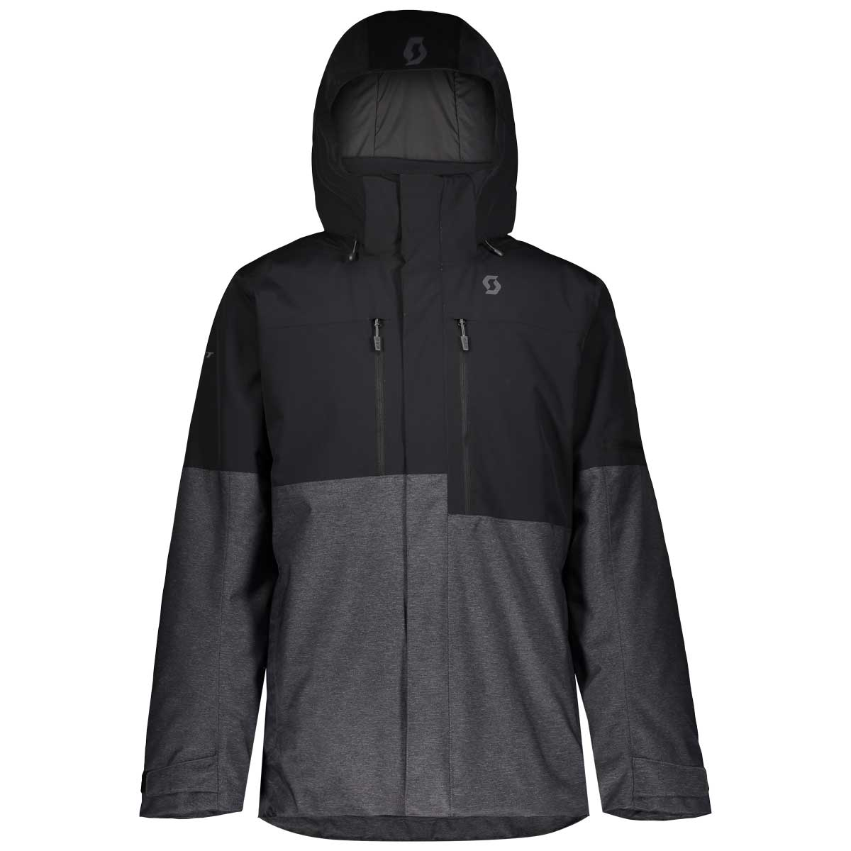 Scott men's Ultimate Dryo 10 jacket in Black and Dark Grey Melange