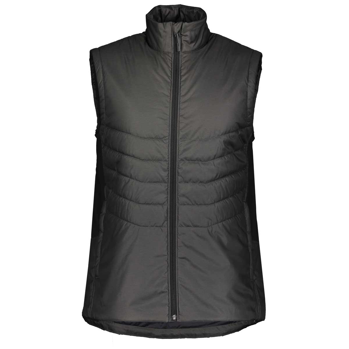 Scott men's insuloft light vest in Dark Grey Melange and Black