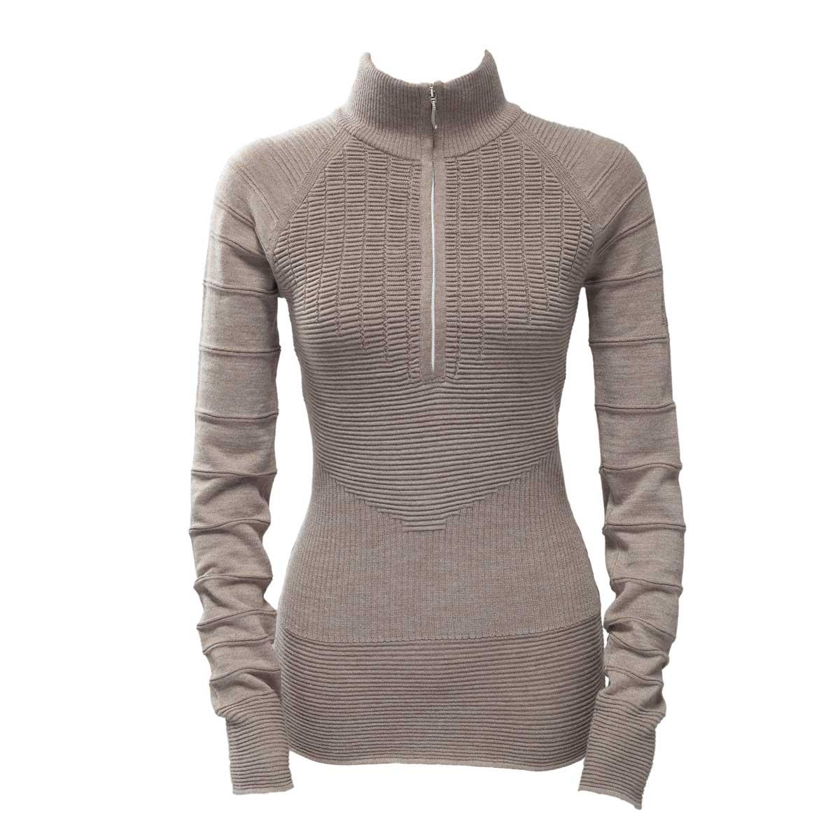 Skea Women's Ski Zip Sweater in Taupe